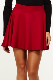 High School Sweethearts Wine Skater Skirt