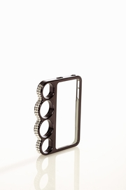 Hold the Phone Black Jeweled Knuckle iPhone 4/4S Case