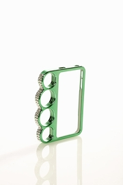 Hold the Phone Green Jeweled Knuckle iPhone 4/4S Case