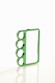 Hold the Phone Green Jeweled Knuckle iPhone 5 Case