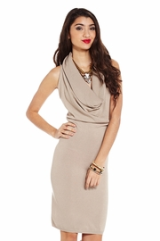 In Full Force Drape Neck Dress