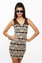 Lace to the Finish Line Taupe Sequined Dress