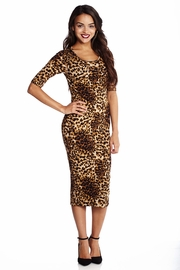 Leopard Luxury Midi Dress