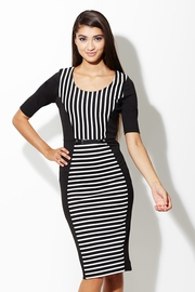 Line Lust Black/White Hourglass Dress with Belt