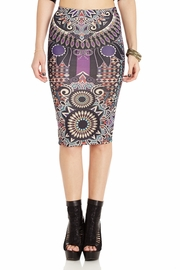 Medallion Mash-Up Pencil Skirt