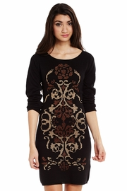Metallic Medallion Sweater Dress