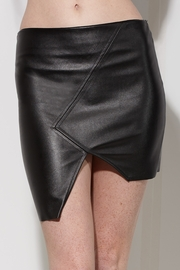 Missing Pieces Faux Leather Mini Skirt