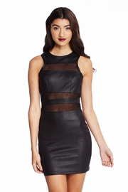Moto Chic Mesh Mini Dress