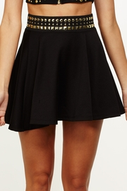 Nail It Elastic Waist Black Skater Skirt