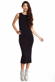 One Stop Shop Black Knit Midi Dress