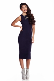 One Stop Shop Navy Knit Midi Dress