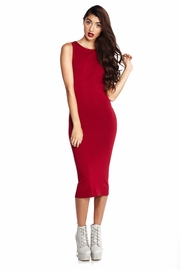 One Stop Shop Red Knit Midi Dress