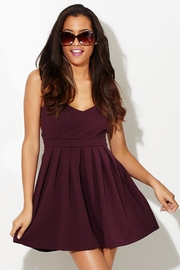 Open Back Open Heart A-Line Wine Dress
