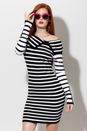 Opposites Attract Striped Sweater Dress