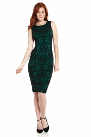 Over Achiever Flocked Midi Dress
