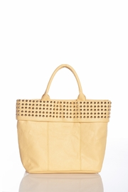 Over the Moon Studded Flap Oversized Light Yellow Tote
