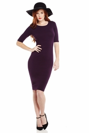 Pardon Midi Solid Dress