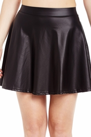 Pretty in Punk Faux Leather Skater Skirt