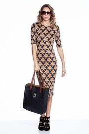 Pride and Joy Gold Patterned Midi Dress