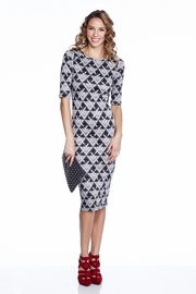 Pride and Joy Gray Patterned Midi Dress
