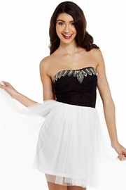 Prom Queen Beaded Corset Dress