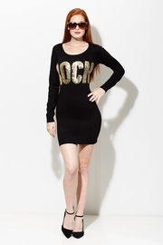 Ready to �Rock� Black Sweater Dress