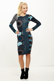 Ruffle My Feathers Turquoise Peacock Midi Dress