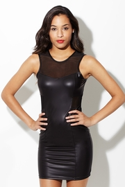 Saturday Night Delight Faux Leather Dress