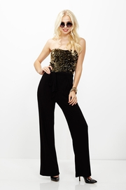 Sequins or Losses Gold Jumpsuit