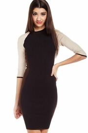 Set the Tri-Tone Sweater Dress