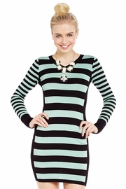 Side View Striped Sweater Dress