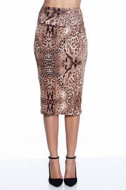 Spot On High Waist Midi Pencil Skirt