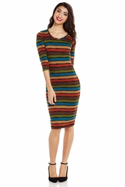Stripe Out Patterned Dress