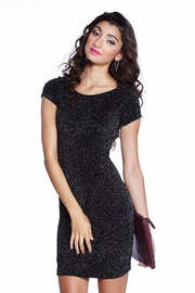 Sugar Cane Black Metallic Knit Dress
