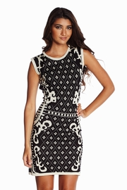 Surprise Guest Patterned Knit Dress in Black