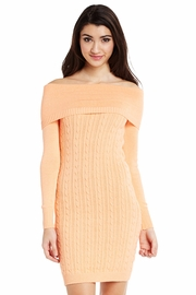 Take a Stand Cowl Cable Sweater Dress