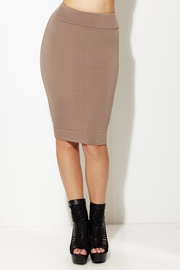 Totally Knee-t Brown Pencil Skirt