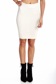 Totally Knee-t Off White Pencil Skirt