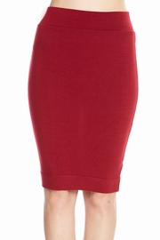 Totally Knee-t Wine Pencil Skirt