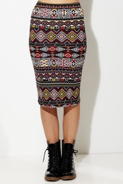 Tribal Buster Red Pencil Skirt