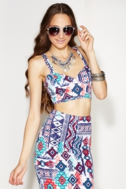 Tribal Dance Padded Crop Top