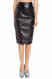 Underneath It All Faux Leather Zipper Skirt