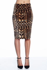 Vivacious Velvet Aztec Pencil Skirt