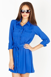Working Girl Royal Shirtdress