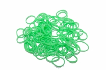 100 Ct. Glow in the Dark Loom Bands + 10 Free Clasps
