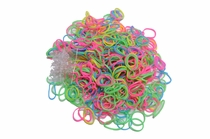 500 Ct. Glow in the Dark Assortment Value Pack + 25 Free Clasps
