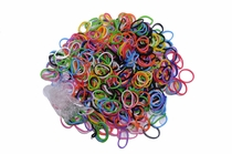 500 Ct. Primary Assortment Loom Bands + 25 Free Clasps