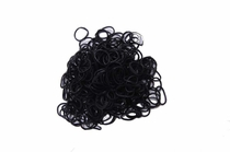 600 Ct Black Loom Bands + 24 Free Clasps