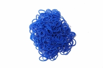 600 Ct Blue Loom Bands + 24 Free Clasps