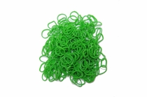 600 Ct Green Loom Bands + 24 Free Clasps